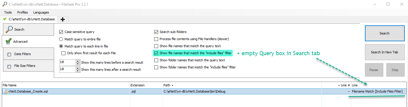 Find files with file names defined as RegEx • Discussions • FileSeek